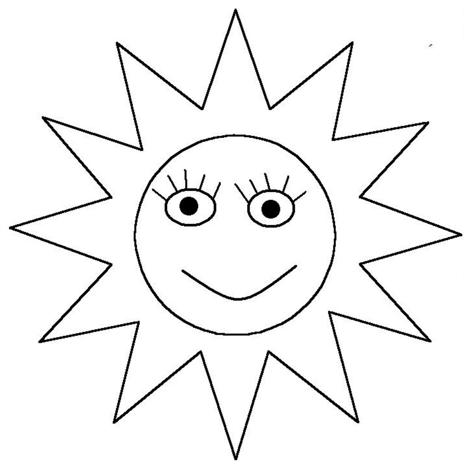 Coloriage Soleil visage à imprimer sur COLORIAGES .info