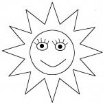 Coloriage Soleil visage