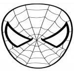 Coloriage Spiderman visage