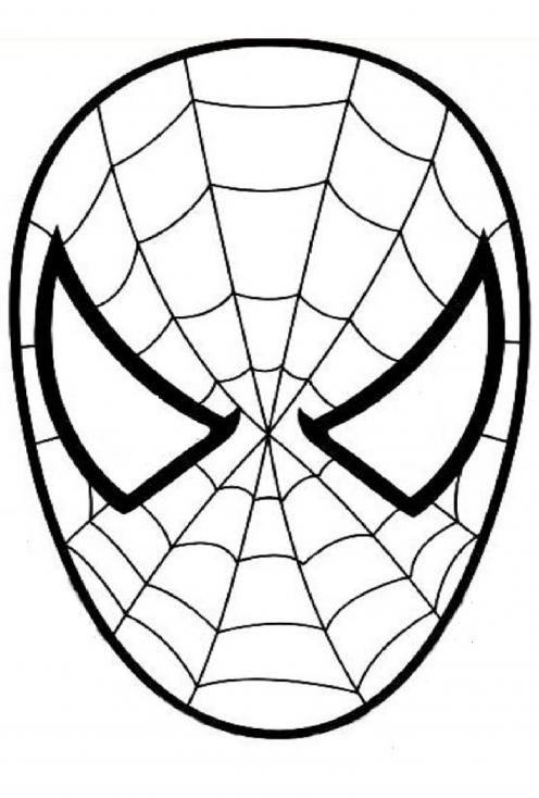 Coloriage Spiderman visage à imprimer