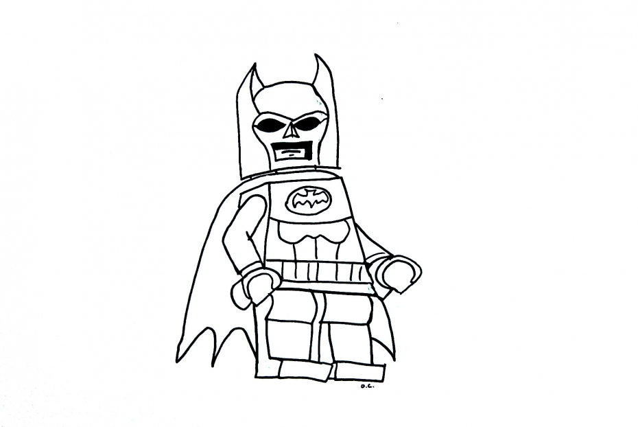 Coloriage Personnage Lego