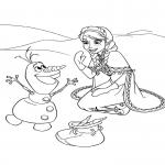 Dessin Anna et Olaf