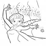 Coloriage Elsa flocon de neige