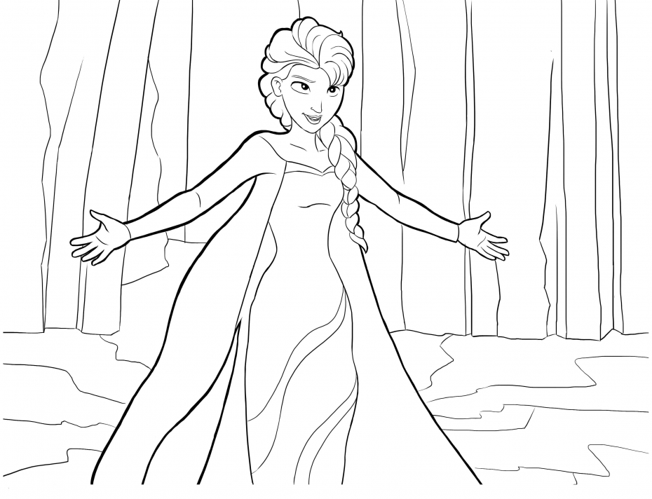 Coloriage Princesse Elsa à imprimer