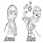 Dessin Anna et Elsa Disney