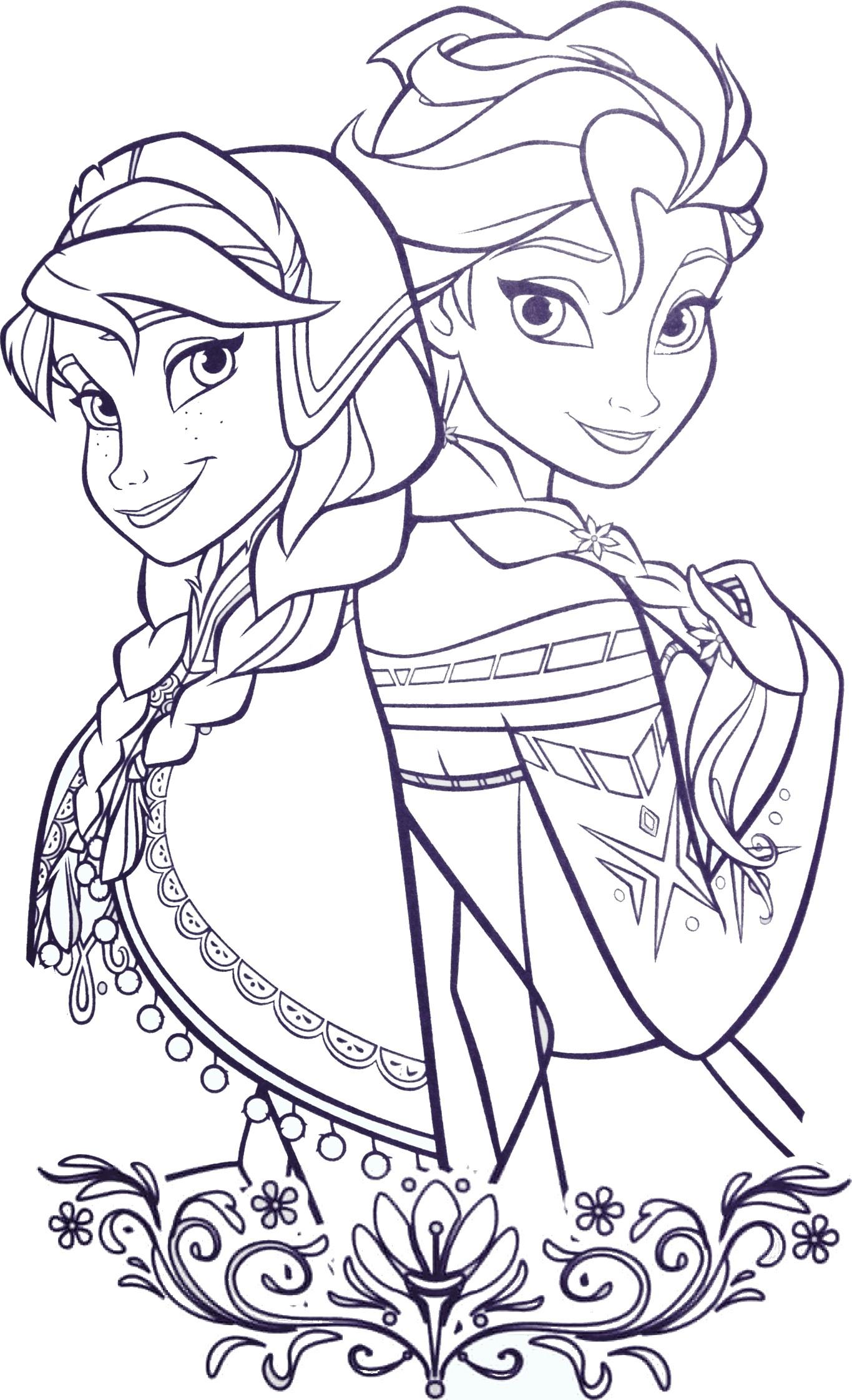 Coloriage princesses arendelle imprimer sur coloriages info - Princesse disney a colorier ...