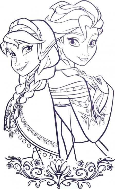 Coloriage princesses Arendelle à imprimer