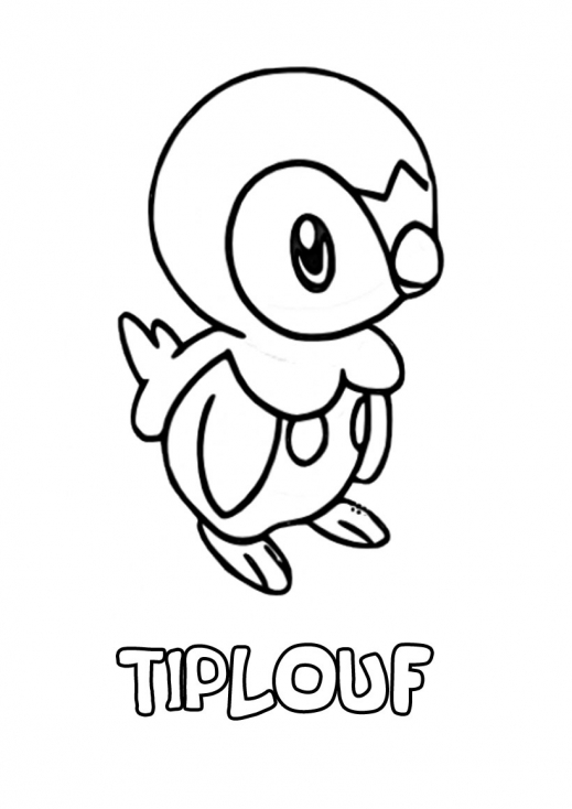 Coloriage Tiplouf Pokemon à imprimer