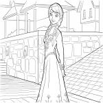 Dessin Anna dans la reine des neiges
