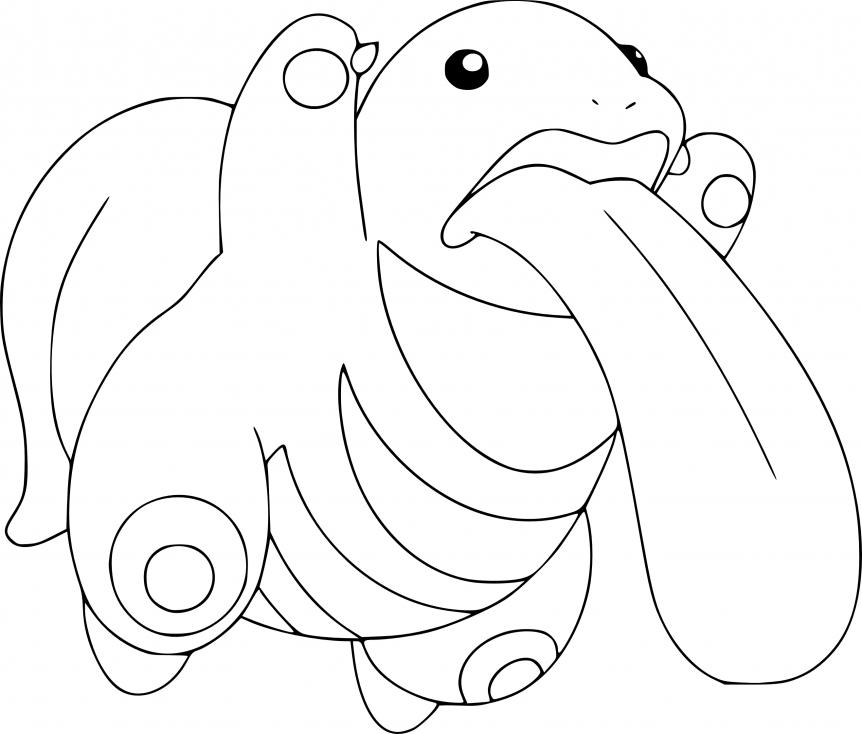 Coloriage Excelangue Pokemon à imprimer