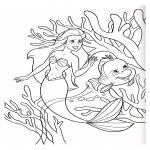 La petit sirène Disney dessin à colorier