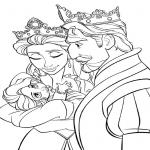 Parents de Raiponce dessin à colorier
