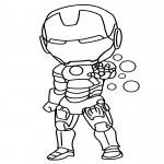 Petit Iron Man dessin à colorier