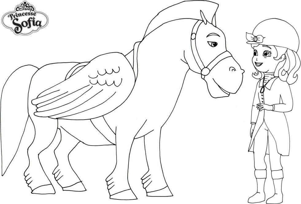 Coloriage princesse sofia cheval imprimer sur coloriages - Dessin de sofia ...