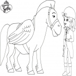 Princesse Sofia cheval
