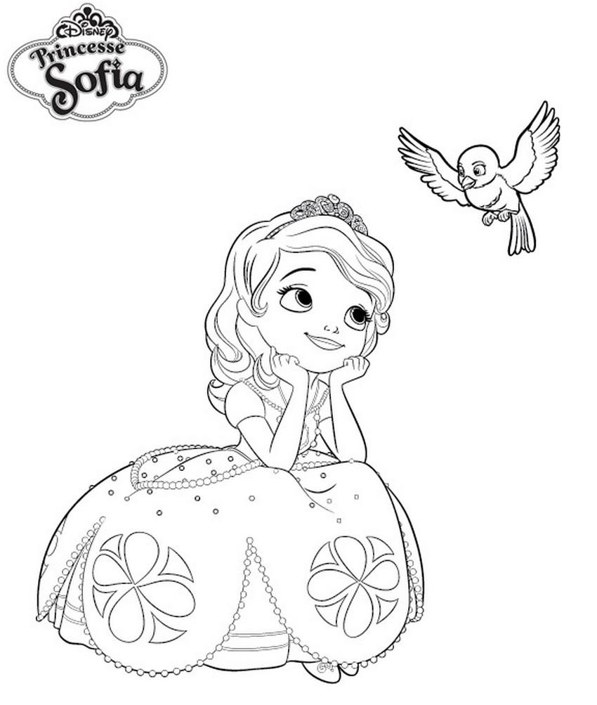 Coloriage Princesse Sofia robe à imprimer sur COLORIAGES .info