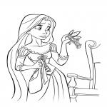 Raiponce couronne dessin à colorier