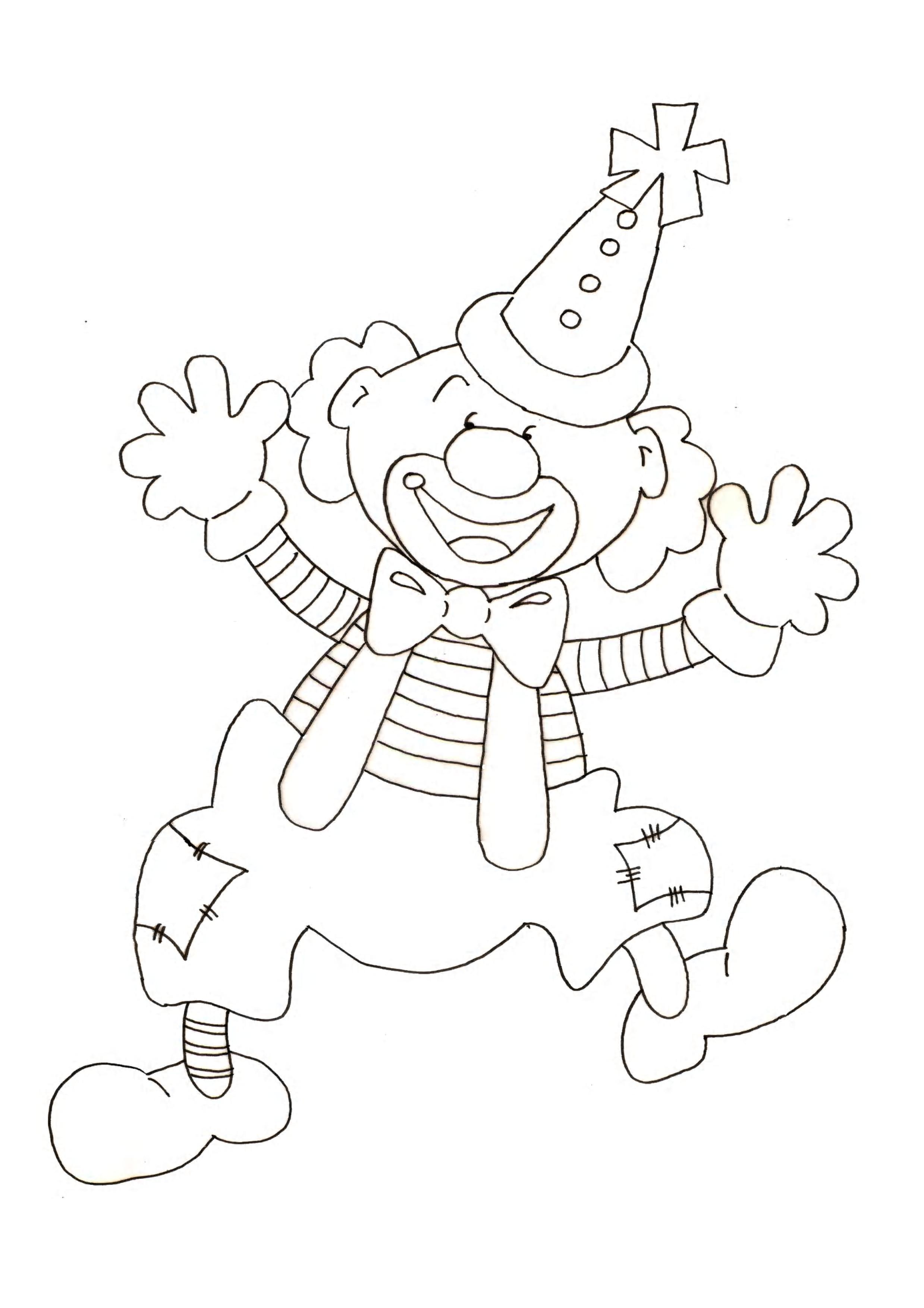 Coloriage Clown gentil à imprimer sur COLORIAGES .info