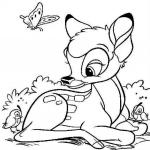 Coloriage Jeune Bambi
