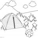 Coloriage Tente de camping