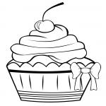 Cupcake dessin à colorier