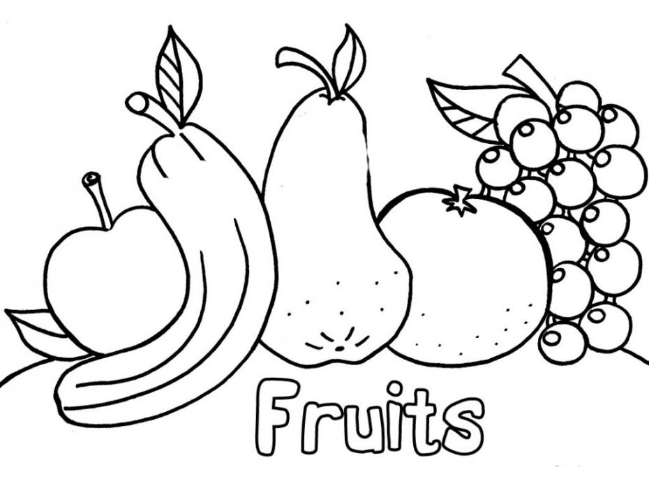 Coloriage Fruits à imprimer