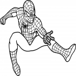 Coloriage Spiderman en action