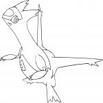 Coloriage Latias Pokemon dragon