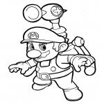 Coloriage Mario Sunshine