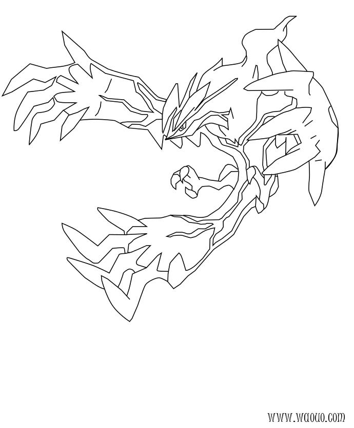 Coloriage yveltal pokemon l gendaire imprimer sur for Pokemon yveltal coloring pages