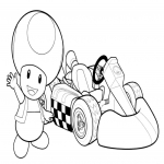 Coloriage Toad Kart