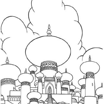 Coloriage Château Aladdin à Imprimer Sur Coloriages Info
