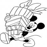 Coloriage Mickey cadeau