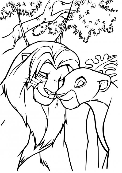Coloriage Simba adulte à imprimer