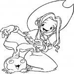 Mimi Tachikawa Digimon dessin à colorier