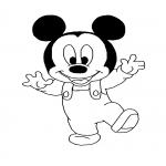 Coloriage Bébé Mickey Disney