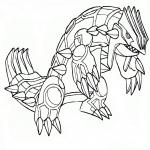 Coloriage Pokemon Groudon