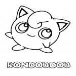 Pokemon Rondoudou dessin à colorier