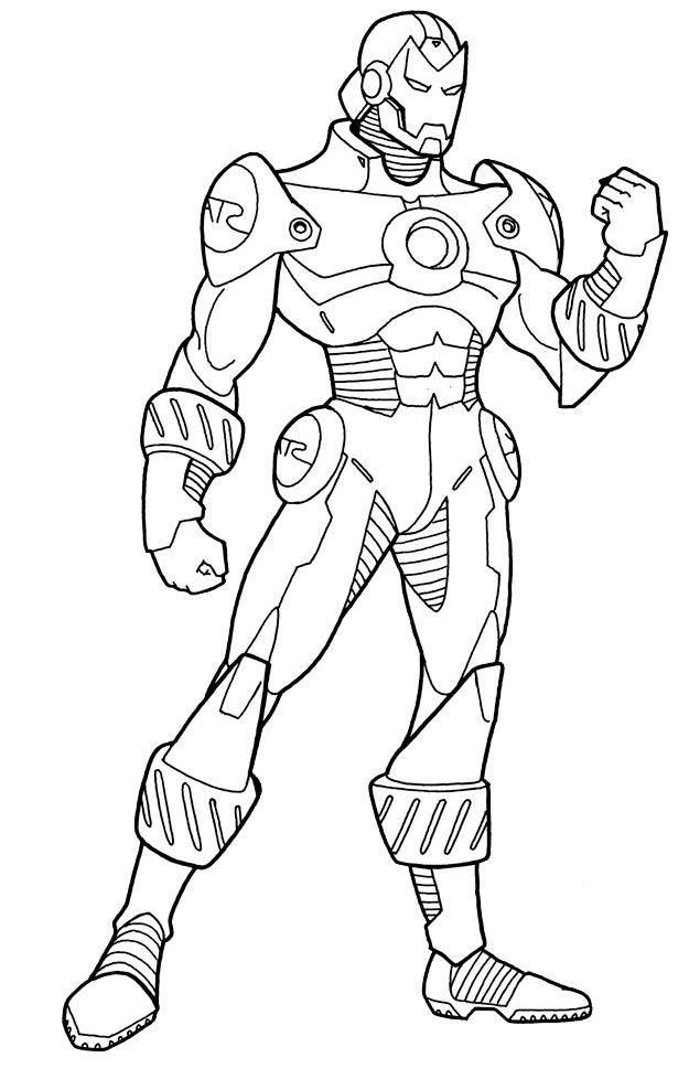 Coloriage Iron man 2 à imprimer sur COLORIAGES .info