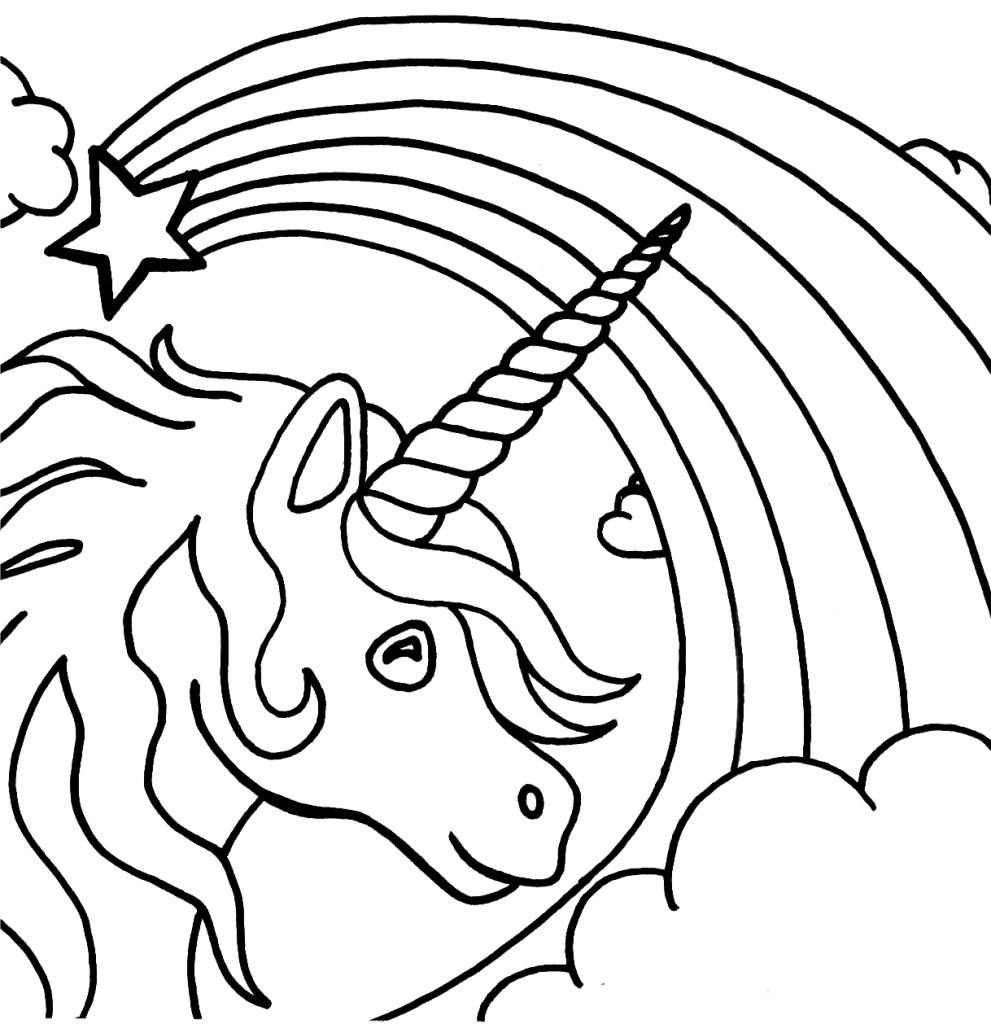 Coloriage Licorne Arc en ciel à imprimer sur COLORIAGES .info