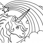 Coloriage Licorne Arc-en-ciel