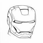 Masque Iron Man dessin à colorier