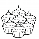 Petits gâteaux  dessin à colorier