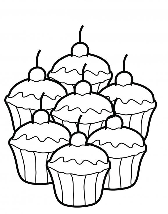 Coloriage Petits gâteaux  à imprimer