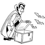 Coloriage Dracula Vampire