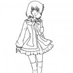Coloriage Manga fille