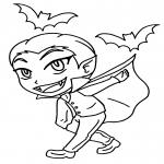 Coloriage Petit garçon vampire