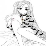 Coloriage Vampire manga fille