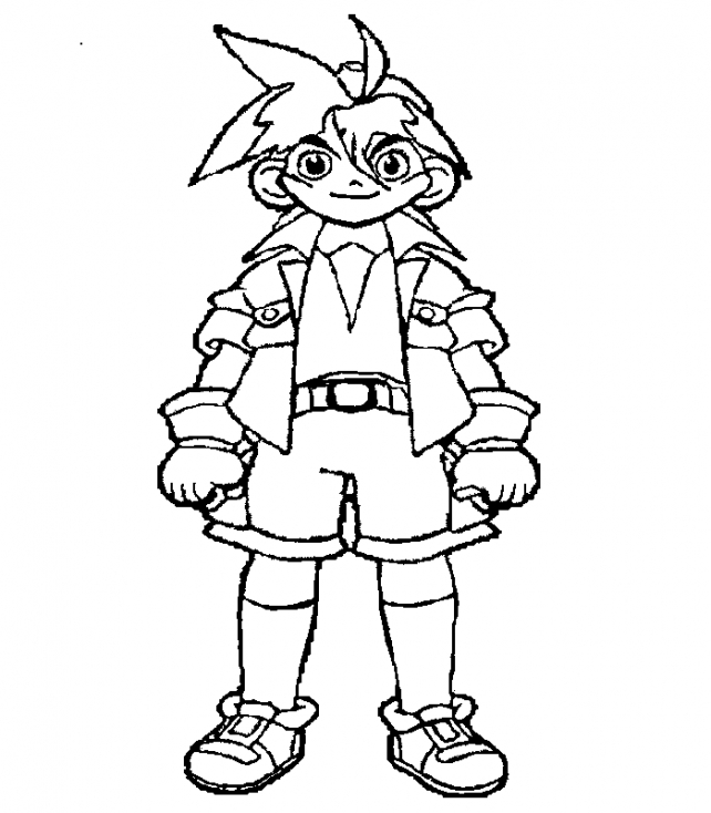 Coloriage Beyblade personnage à imprimer