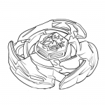 Coloriage Beyblade toupie